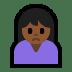🙍🏾 person frowning: medium-dark skin tone Emoji on Windows Platform
