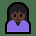 🙍🏿 person frowning: dark skin tone Emoji on Windows Platform