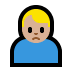 🙍🏼♂️ man frowning: medium-light skin tone Emoji on Windows Platform