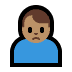 🙍🏽‍♂️ man frowning: medium skin tone Emoji on Windows Platform