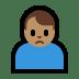 🙍🏽♂️ man frowning: medium skin tone Emoji on Windows Platform
