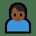 🙍🏾♂️ man frowning: medium-dark skin tone Emoji on Windows Platform