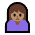 🙍🏽‍♀️ woman frowning: medium skin tone Emoji on Windows Platform