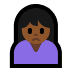 🙍🏾‍♀️ woman frowning: medium-dark skin tone Emoji on Windows Platform