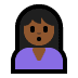 🙎🏾 person pouting: medium-dark skin tone Emoji on Windows Platform