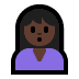 🙎🏿 person pouting: dark skin tone Emoji on Windows Platform