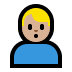 🙎🏼♂️ man pouting: medium-light skin tone Emoji on Windows Platform