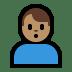 🙎🏽♂️ man pouting: medium skin tone Emoji on Windows Platform