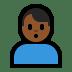 🙎🏾♂️ man pouting: medium-dark skin tone Emoji on Windows Platform