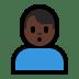 🙎🏿♂️ Dark Skin Tone Man Pouting Emoji on Windows Platform