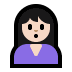 🙎🏻‍♀️ woman pouting: light skin tone Emoji on Windows Platform