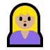 🙎🏼‍♀️ woman pouting: medium-light skin tone Emoji on Windows Platform