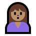 🙎🏽‍♀️ woman pouting: medium skin tone Emoji on Windows Platform