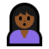 🙎🏾‍♀️ woman pouting: medium-dark skin tone Emoji on Windows Platform