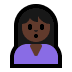 🙎🏿‍♀️ woman pouting: dark skin tone Emoji on Windows Platform