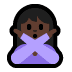 🙅🏿 person gesturing NO: dark skin tone Emoji on Windows Platform
