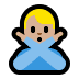 🙅🏼♂️ man gesturing NO: medium-light skin tone Emoji on Windows Platform