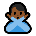 🙅🏾‍♂️ man gesturing NO: medium-dark skin tone Emoji on Windows Platform