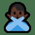 🙅🏿♂️ Dark Skin Tone Man Gesturing No Emoji on Windows Platform