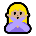 🙅🏼‍♀️ woman gesturing NO: medium-light skin tone Emoji on Windows Platform