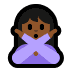 🙅🏾‍♀️ woman gesturing NO: medium-dark skin tone Emoji on Windows Platform
