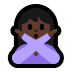🙅🏿‍♀️ woman gesturing NO: dark skin tone Emoji on Windows Platform
