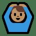 🙆🏽♂️ man gesturing OK: medium skin tone Emoji on Windows Platform