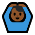 🙆🏾‍♂️ man gesturing OK: medium-dark skin tone Emoji on Windows Platform