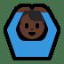 🙆🏿♂️ man gesturing OK: dark skin tone Emoji on Windows Platform