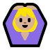 🙆🏼‍♀️ woman gesturing OK: medium-light skin tone Emoji on Windows Platform