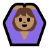🙆🏽‍♀️ woman gesturing OK: medium skin tone Emoji on Windows Platform