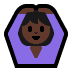 🙆🏿‍♀️ woman gesturing OK: dark skin tone Emoji on Windows Platform