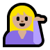 💁🏼 person tipping hand: medium-light skin tone Emoji on Windows Platform