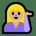 💁🏼♀️ woman tipping hand: medium-light skin tone Emoji on Windows Platform