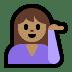 💁🏽♀️ woman tipping hand: medium skin tone Emoji on Windows Platform