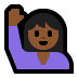 🙋🏾 person raising hand: medium-dark skin tone Emoji on Windows Platform