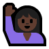 🙋🏿 person raising hand: dark skin tone Emoji on Windows Platform