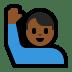 🙋🏾♂️ man raising hand: medium-dark skin tone Emoji on Windows Platform