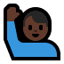 🙋🏿‍♂️ Dark Skin Tone Man Raising Hand Emoji on Windows Platform