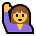 🙋‍♀️ woman raising hand Emoji on Windows Platform