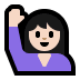 🙋🏻♀️ woman raising hand: light skin tone Emoji on Windows Platform