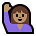 🙋🏽‍♀️ Medium Skin Tone Woman Raising Hand Emoji on Windows Platform