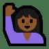 🙋🏾♀️ woman raising hand: medium-dark skin tone Emoji on Windows Platform