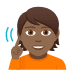 🧏🏾 deaf person: medium-dark skin tone Emoji on Windows Platform