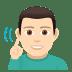 🧏🏻♂️ deaf man: light skin tone Emoji on Windows Platform