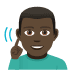 🧏🏿‍♂️ deaf man: dark skin tone Emoji on Windows Platform
