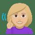 🧏🏼♀️ deaf woman: medium-light skin tone Emoji on Windows Platform