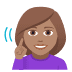 🧏🏽‍♀️ deaf woman: medium skin tone Emoji on Windows Platform