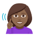 🧏🏾‍♀️ deaf woman: medium-dark skin tone Emoji on Windows Platform