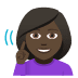 🧏🏿‍♀️ deaf woman: dark skin tone Emoji on Windows Platform